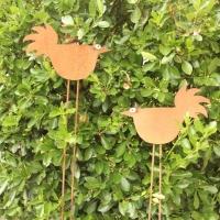 Gartenstickel Hühner