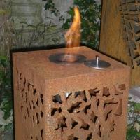 Feuersäule brennend