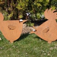 Hühner gross zum Stecken