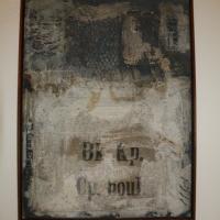 Komposition mit Jute und Schrift inkl. Holzrahmen, 60 x 80cm, CHF 850.-